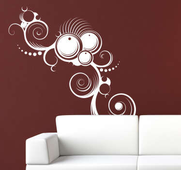 An abstract sticker to give your home and interesting look. Superb decal to fill those empty walls at home.