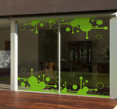 A decorative decal from our collection of modern wall stickers with futuristic shapes and circles.