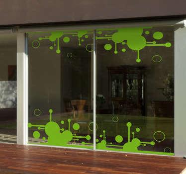 Futuristic Circles Window Sticker