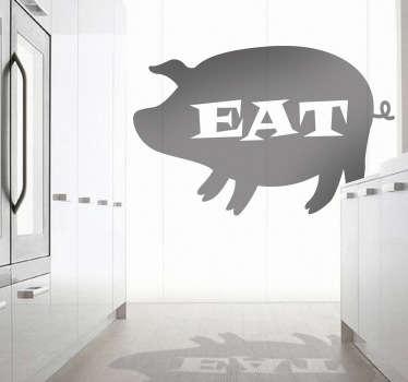Naklejka dekoracyjna świnka