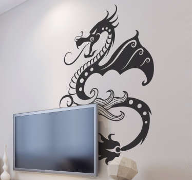 Decals - Abstract illustration of a dragon. Distinctive design ideal for decorating your windows. Available in various sizes and colours.