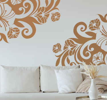 Decals - Elegant and exotic floral design. Distinctive feature ideal for glass windows. Available in various sizes and colours.