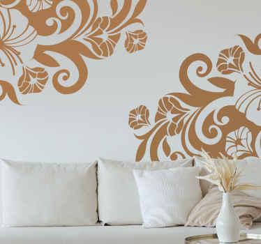 Sticker decorativo angoli floreali