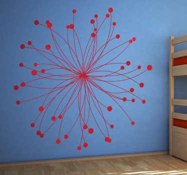 Sticker décoratif étoile rosace