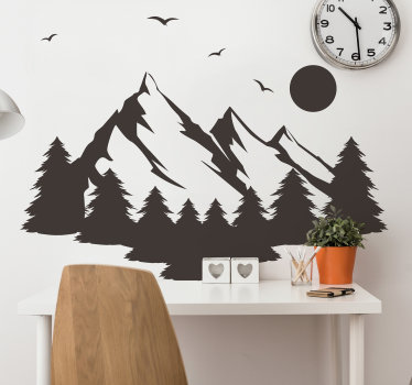 Natural wall sticker design of a peaceful vegetation  in silhouette that is available in different colour options. Easy to apply with no wrinkles.