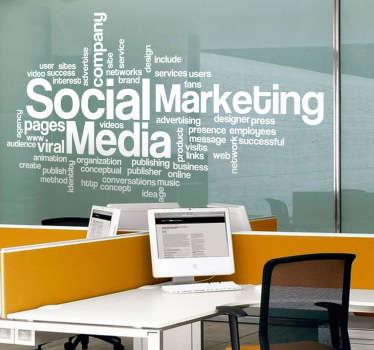 Autocolante decorativo nuvem de palavras Marketing