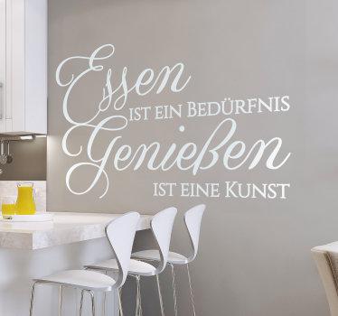 Dekorative küche wandtattoo mit küche text thema erstellt. Das design ist in verschiedenen farben und größen erhältlich, um die wand zu verschönern.