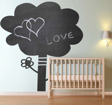Blackboard tree sticker for decorating a kids bedroom or nursery. This fun design is great for letting your child's creativity run wild. Practical chalkboard wall sticker to draw and write down ideas at the same time as bringing a touch of nature to your home decor.