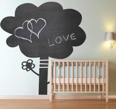 Autocolante decorativo árvore quadro preto