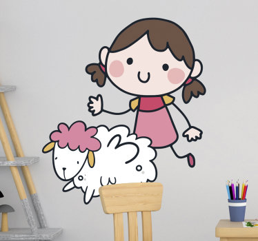 Decorative and easy to apply wall sticker for children's room designed with the fairy tale fiction character of Heide. Choose the size you want.