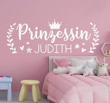 Acquista la nostra sticker da parete con nome personalizzabile per il tuo bambino.. Il design è disponibile in diversi colori e dimensioni.