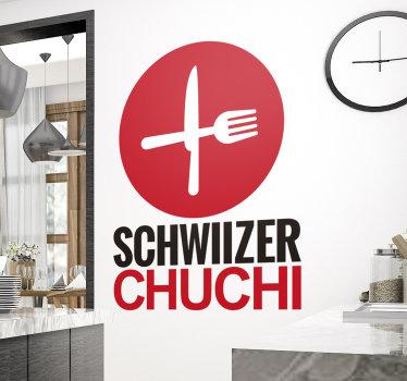 Decorare lo spazio della cucina con il nostro adesivo da parete con posate su di esso in uno splendido stile di Carta da parati e colore.