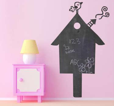 Sticker ardoise silhouette maison