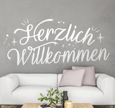 Aufkleberatives home-wandtattoo-design mit text, der für jeden wandbereich geeignet ist und in jeder farbe und größe ihrer wahl gekauft werden kann.