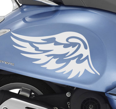 Car vinyl sticker of a wing silhouette design that you can buy in any colour to decorate your vehicles or any flat surface.