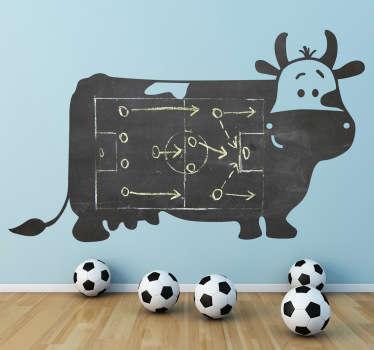 Adesivo decorativo lavagna mucca