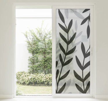 Window vinyl decal of transparent plant sheet to beautify the surface of any window space, be it in the home, office and school.