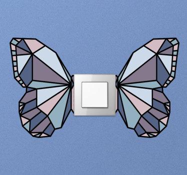 Vinilo decorativo y fácil de aplicar para la cubierta del interruptor de luz con diseño de mariposas para aplicar en cualquier área plana del interruptor en el hogar.