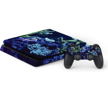 Sticker peau sticker ps4 avec un design océan profond pour embellir la surface de votre gadget. Un design étonnant et idéal pour tous les contrôleurs de jeux ps4.