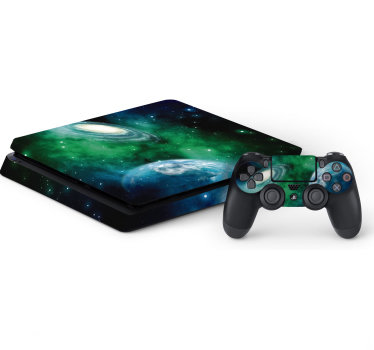 Deep space ps4 skin sticker to apply on the surface of your ps4 game controller. You can chose the size that fit your ps4 with it controller.