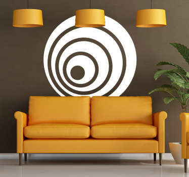 Decorative concentric decal which can create an amazing effect in your home. Design from our collection of modern wall stickers.