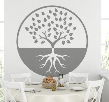 Easy to apply decorative wall vinyl decal of a tree art in silhouettes. the design is available in different colour and sizes.