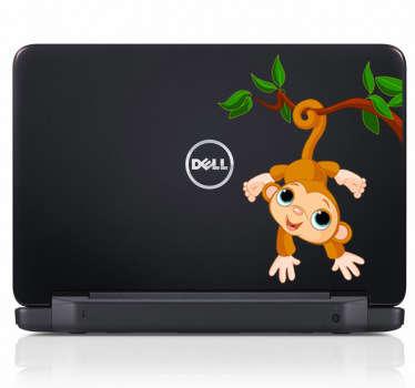 Süßer Laptop Aufkleber Affe