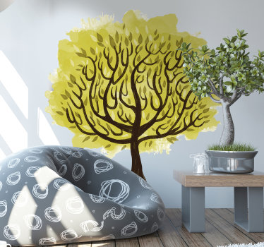 Tree wall art decal available in different size options. Its a tree with branches designed in watercolor style and will be beautiful on any space.