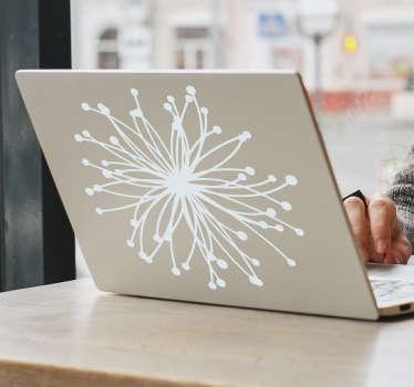Nuklear Blume Laptop Aufkleber