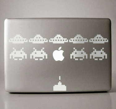 Space Invaders Laptop Sticker