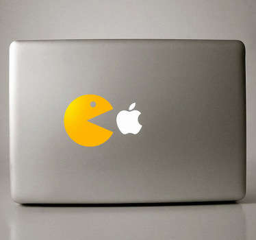Sticker PC portable figurine Pacman
