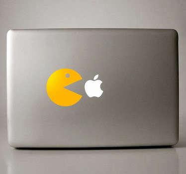 Pac man Macbook sticker