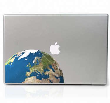 Weltkugel Laptop Aufkleber