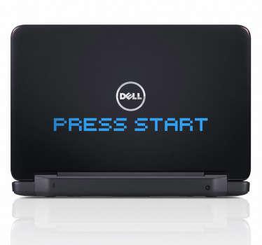Basın başlatmak laptop etiket