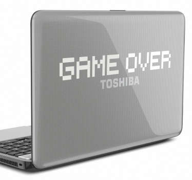 Game Over laptop sticker for the gamers! A classic gaming sticker to decorate your laptop. Are you looking for a sticker to let everyone know you are a true gamer? Then this retro sticker is perfect for you! Choose the colour that best suits your laptop and give it an original touch.