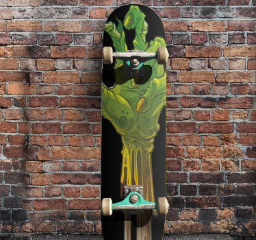 Buy our skateboard decal design of a monster in the size of your preference to enjoy a beautiful skateboard surface as you have a beautiful skating .