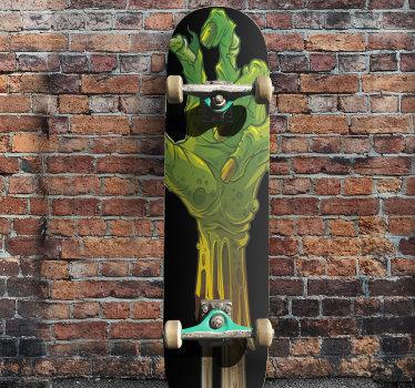 Kaufen sie unser skateboard-aufkleberdesign eines monsters in der größe, die sie bevorzugen, um eine schöne skateboardoberfläche zu genießen, während sie ein schönes skaten haben.