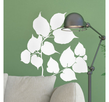 Decorative wall decal of a Linden tree branch that is available in over 40 mono colour options to beautify any space in the home or anywhere.
