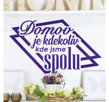 Domácí nástěnná nálepka vinyl navržená s krásným textem k ozdobení obývacího pokoje, ložnice nebo kuchyňského prostoru. K dispozici v monochromatických variantách.