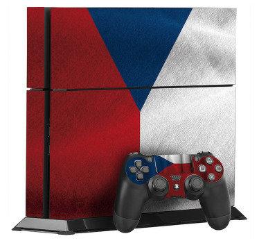 Ps4 herní ovladač kůže vinyl obtisk design české vlajky povrchové textury. Vybral ji v modelu ps4, který chcete zabalit.