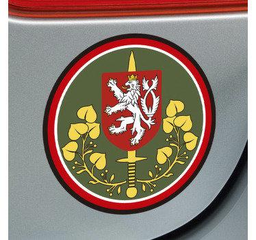 Ozdobná nálepka na auto české pozemní síly nálepka na auto, která se aplikuje na okno nebo kapotu vozidla. Vysoce přilnavý vinyl.