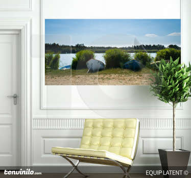 A wall sticker from photographer, Latent Estudi. A beautiful view in a sunny day ready to go on a little trip by boat.
