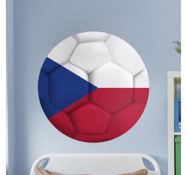 Dekorativní nástěnná nálepka na fotbal s českým venkovským barevným potiskem. Máme ji v různých velikostech.