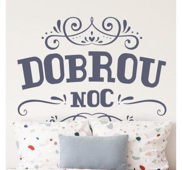 Dekorativní čelní vinylová nálepka na stěnu, která zkrášluje prostor v domácnosti. Design obsahuje ozdobné vzorované prvky s textem.