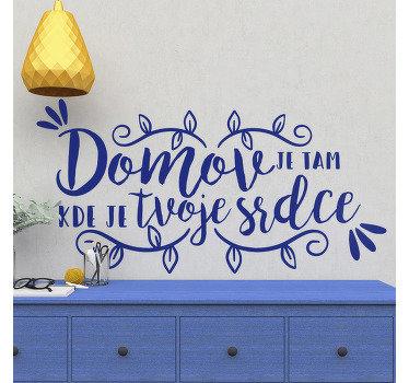 Koupit náš dekorativní vinyl obtisk vytvořený s okrasnými květinami a textem pro povrch domovské zdi. Lze použít na jakýkoli plochý prostor.