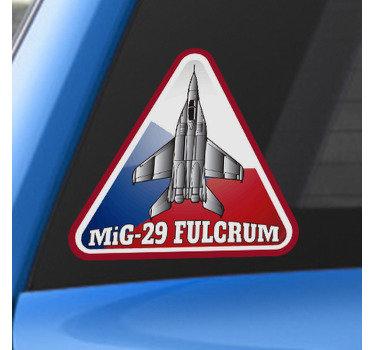 Dekorativní a samolepící vinylová samolepka s designem mig-29 fulcrum czech pro aplikaci na okno, kapotu nebo okno jakéhokoli vozidla.