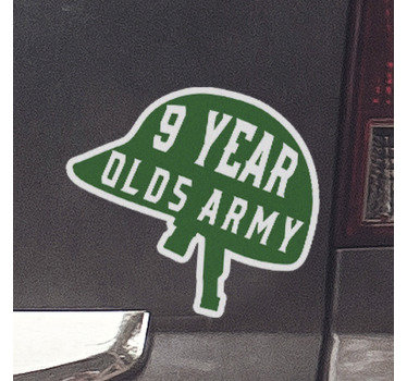 Customizable vinyl decal with the design of an army symbolic representation that state the years of career service on it.