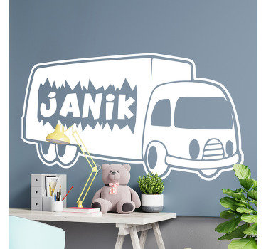 Decorative wall decal for kids created with a Tetra and can be personalized with the name of your choice on it. Easy to apply adhesive vinyl.