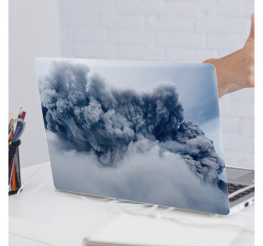 Easy to apply decorative vinyl laptop decal to beautify the surface. The design is created with a volcanic smoke and you can buy it in any colour.
