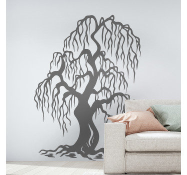 Decorative wall decal of a tree art to beautify any space in the home. The design is available in various size and colour options.